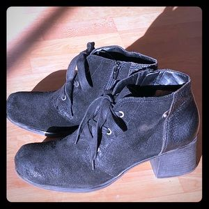 Naturalizer Leather Lace/zipper Shoes